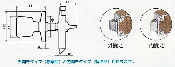 川口技研(GIKEN) ホーム表示錠I型