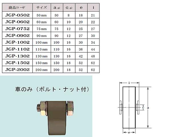 ヨコズナ S45C重量戸車 平型
